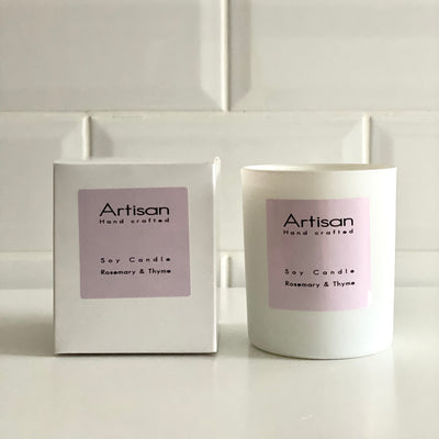 Rosemary & Thyme Artisan Soy Wax Candle - French Quarter