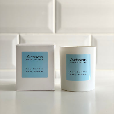 Baby Powder Artisan Soy Wax Candle - French Quarter