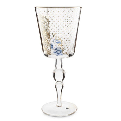 Royal Golden Flower Wine Glass - French Quarter