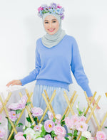 Load image into Gallery viewer, Andree Knitted Top in Sky Blue