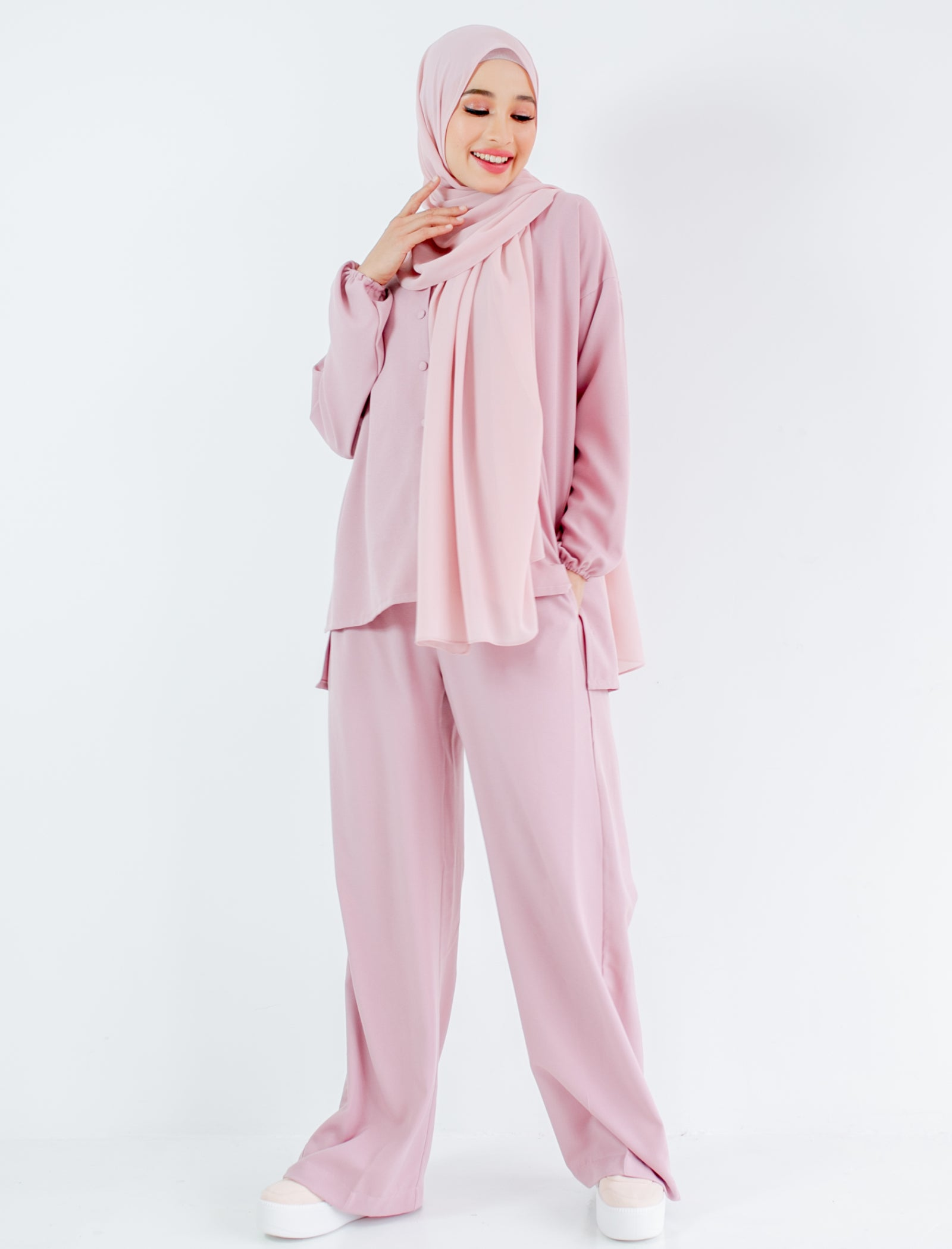 Astrid Pants in Dusty Pink