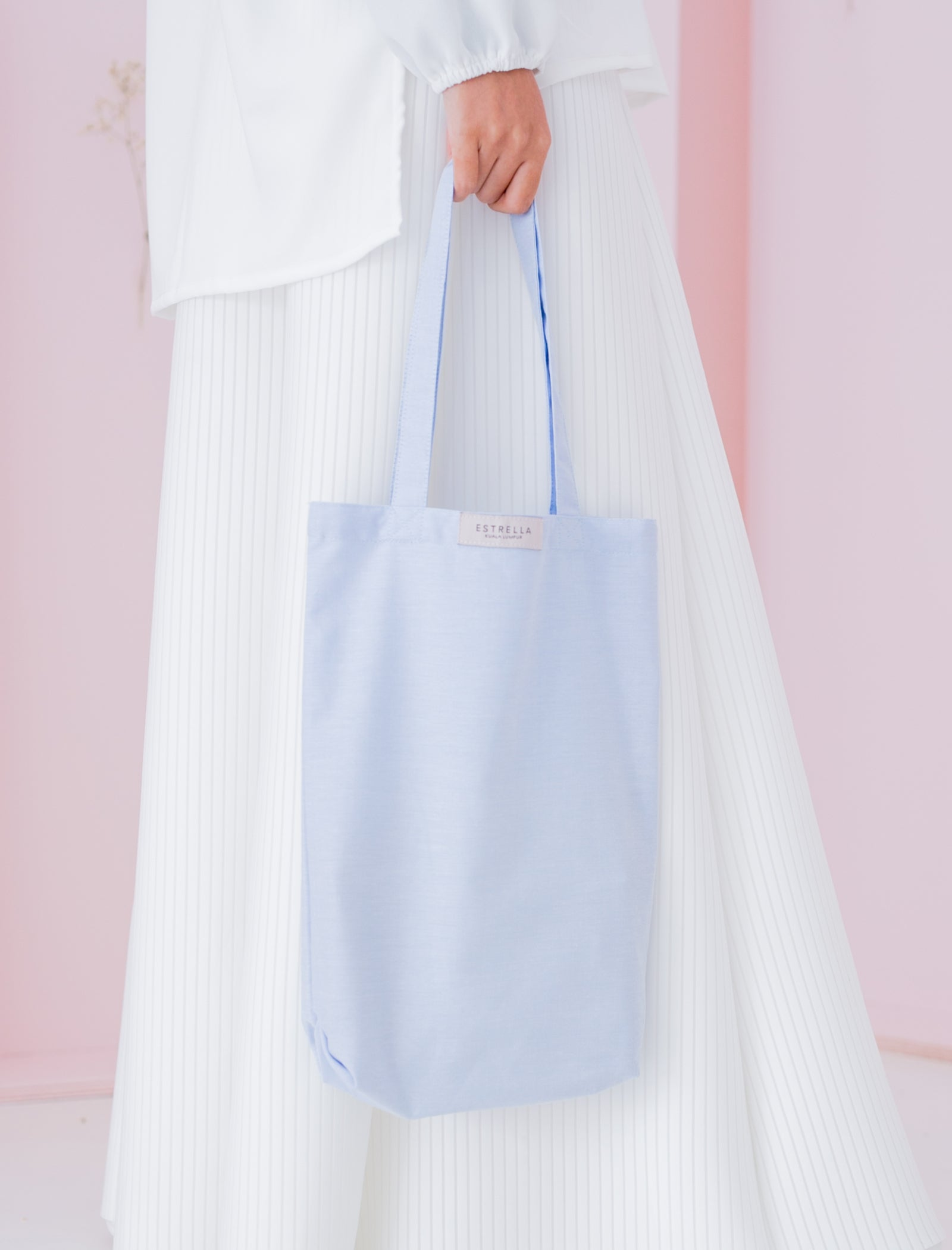 Ellie Tote Bag in Skyblue