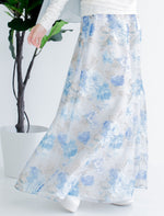 Load image into Gallery viewer, Belle Floral Skirt in Sapphire