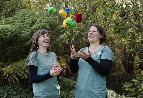Anthea and Helen with EcoSplat reusable water balloons