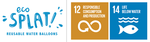EcoSplat logo with the UN SDGs 12 and 14