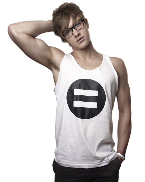 Ditch the Label Symbol Vest Top - Male Model