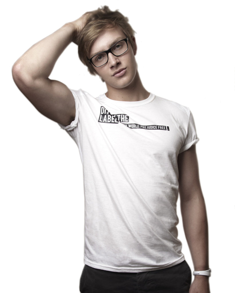 Logo Ambassador Crew Neck White - Male Model