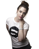 Symbol Crew Neck White - Female Model