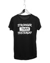 Stronger Than Yesterday Gym T-shirt (Girls)