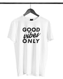 Good Vibes Only (White) - Male Model