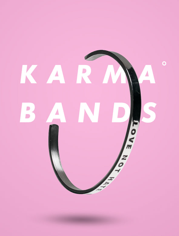 Love Not Hate Karma Band - Silver