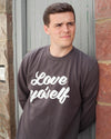 LOVE YO'SELF Sweater in Charcoal