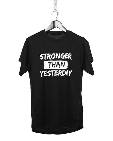 Stronger Than Yesterday Gym T-shirt (Guys)