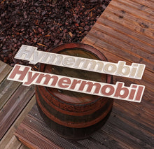 Load image into Gallery viewer, Hymermobil Oldtimer Replacement Schild Sign Badge Aluminium [PAIR]