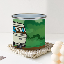 Load image into Gallery viewer, Hymermobil Enamel Tin Outdoors Mug [295ml]