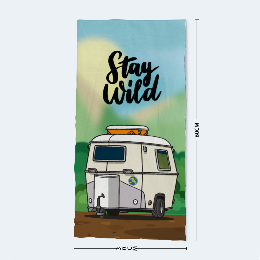 Stay Wild Microfibre Hand Towel
