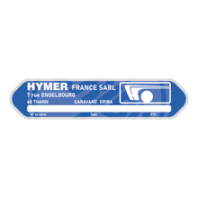 Load image into Gallery viewer, HYMER Eriba Replacement Serial Number Plate Plaque Badge Aluminium