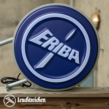 Load image into Gallery viewer, Vintage reproduction Eriba Leuchtzeichen logo wall mounted light sign