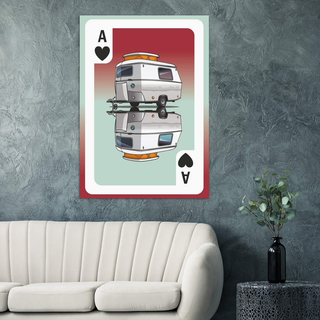 Eriba Ace of Hearts - Puck Playing Card Poster