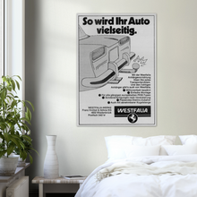 Load image into Gallery viewer, So wird Ihr Auto vielseitig. Westfalia Advertising Poster