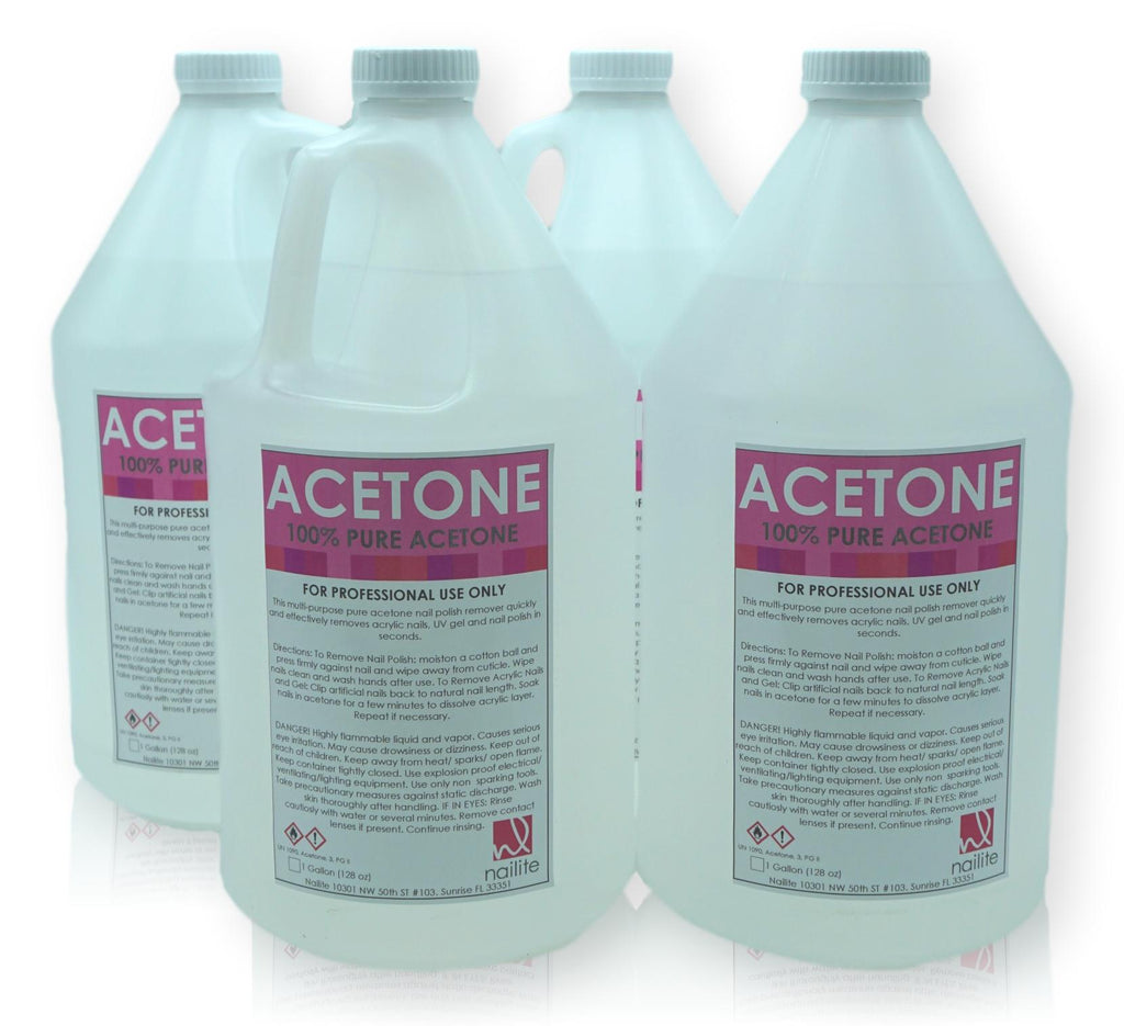 Acetone - Gallon Bottles - Case of 4 Gallons