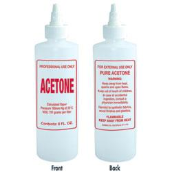 Empty 8 oz Acetone Bottle with Twist Top