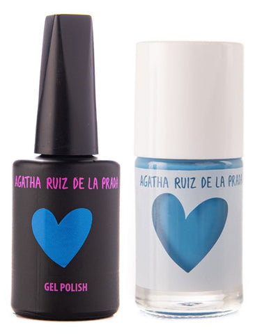 Agatha Ruiz Gel-Polish:  Blue - GELBLU-374 DUO