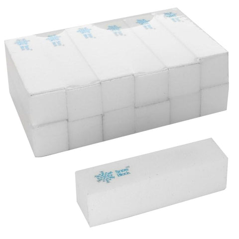 4 Way White Snow Buffer Blocks Case of 1000