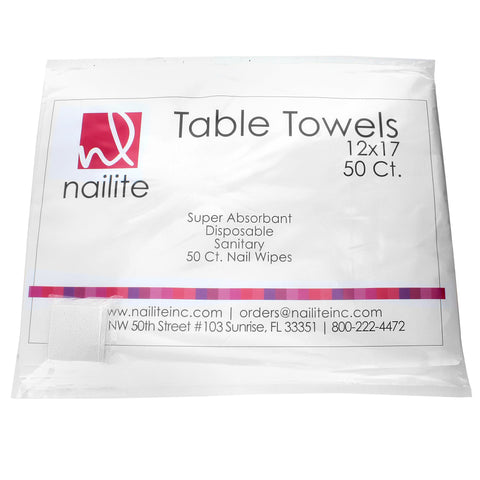Nailite Table Towels with 50 FREE Nail Wipes
