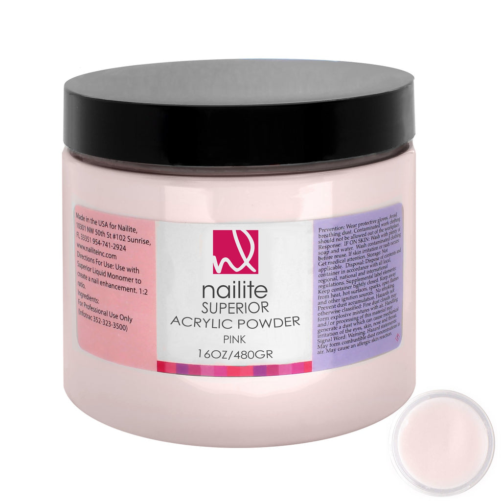 Superior Acrylic Powder Pink 16 oz