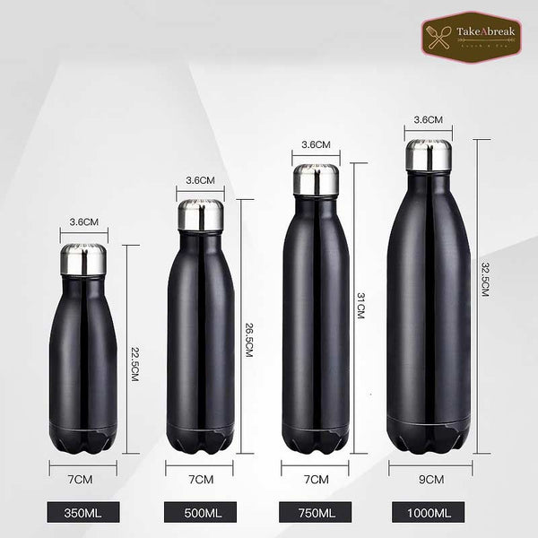 Taille bouteille isotherme 350ml 500ml 750ml 1000ml