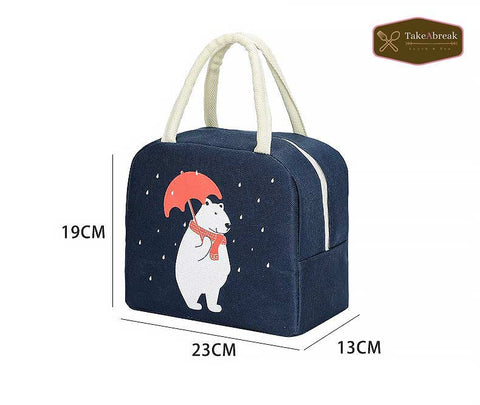 Sac isotherme bleu marine ours polaire