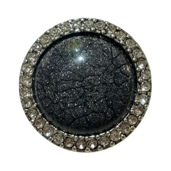 Black Gemstone Snap Button