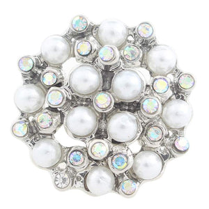 Rhinestone and Pearls Cluster Snap Button