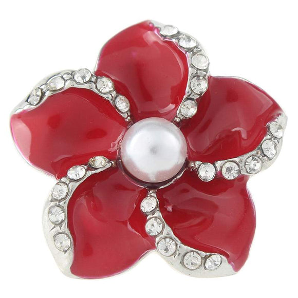 Flower with Pearl Snap Button