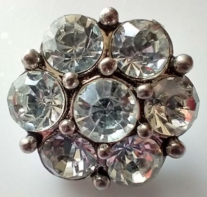 Clear Rhinestone Cluster Snap Button