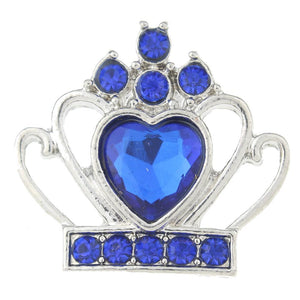 Blue Tiara Snap Button