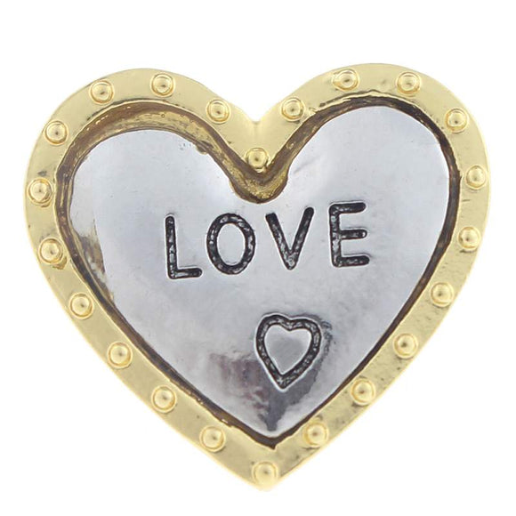 Heart and Love Heart Snap Button