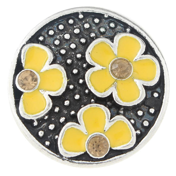 Yellow Flowers Snap Button