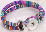 Wrapped Snap Button Bracelet