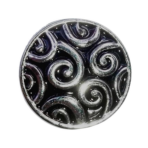 Black Swirl Snap Button