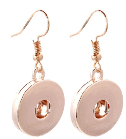 Rose Gold Snap Button Earring