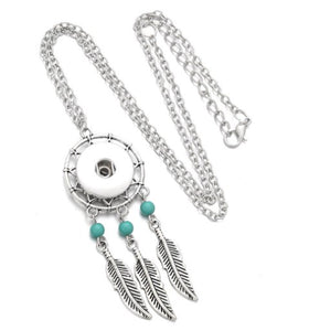 Dreamcatcher Snap Button Necklace