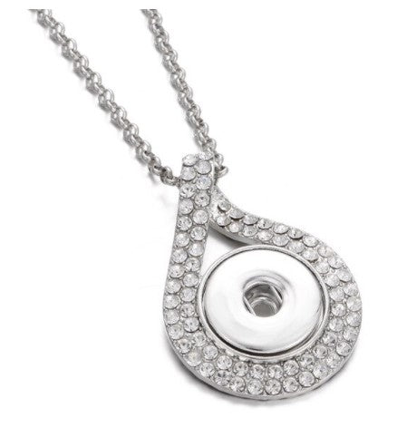 Crystal Rhinestone Snap Button Necklace
