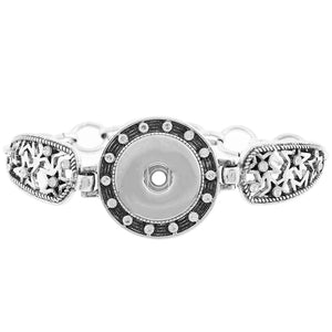 Silver Star Snap Button Bracelet