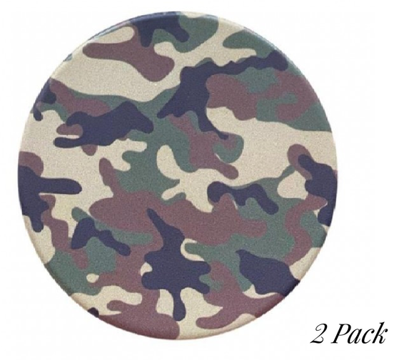 Camouflage printed car coaster set