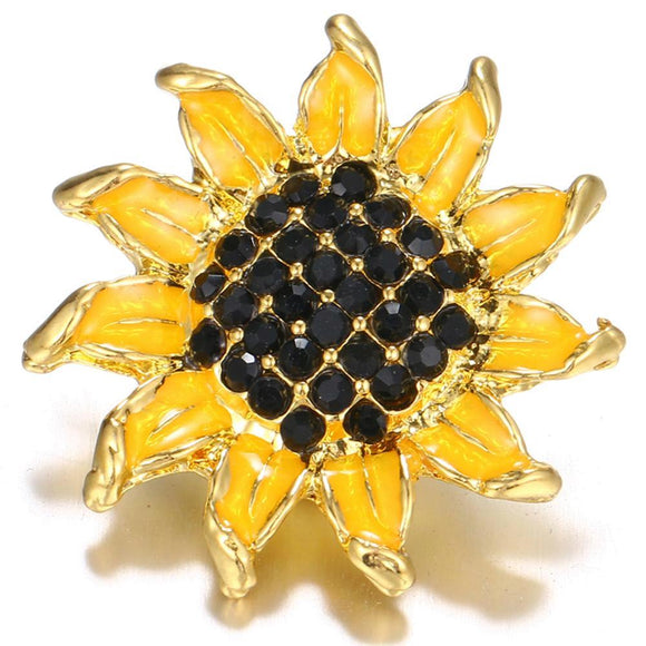 Gold-plated Botany Flower Sunflower snap buttons