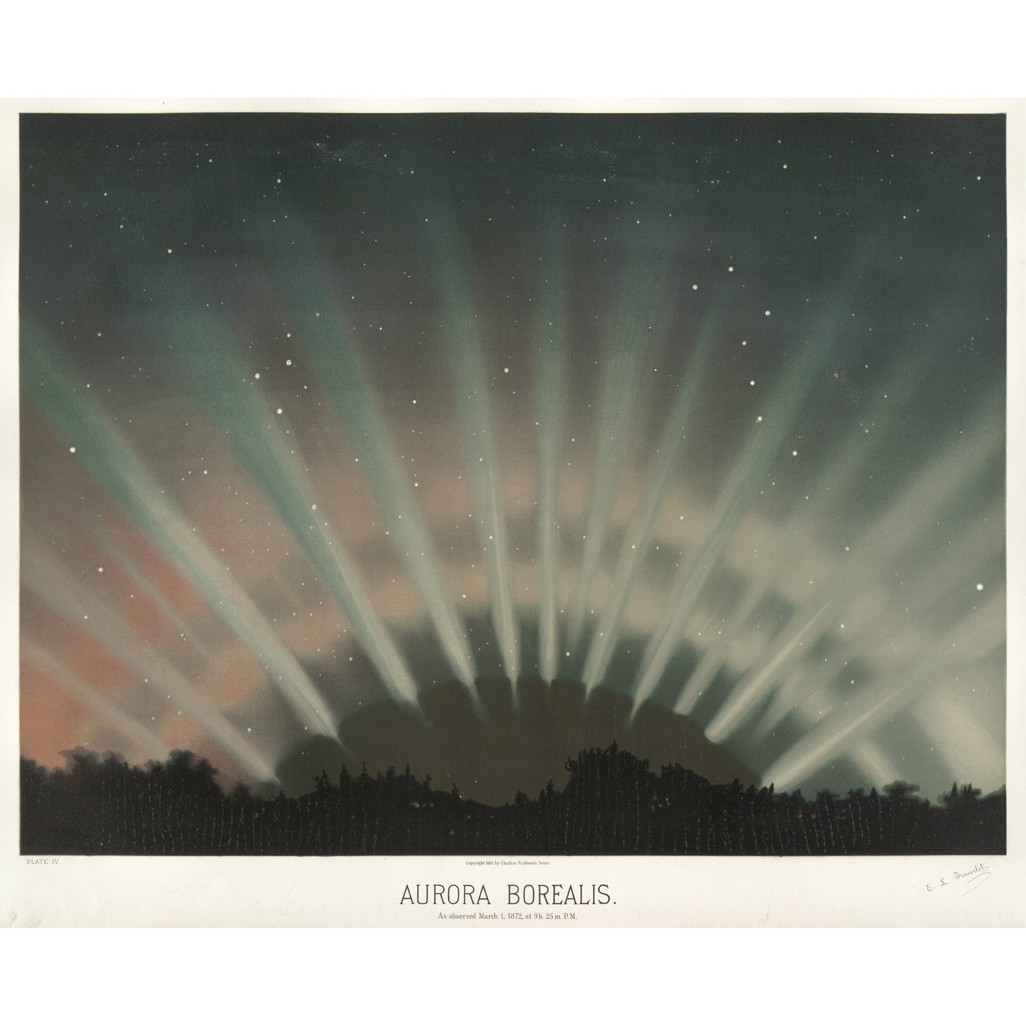 <i>Aurora Borealis</i> by Etienne Leopold Trouvelot