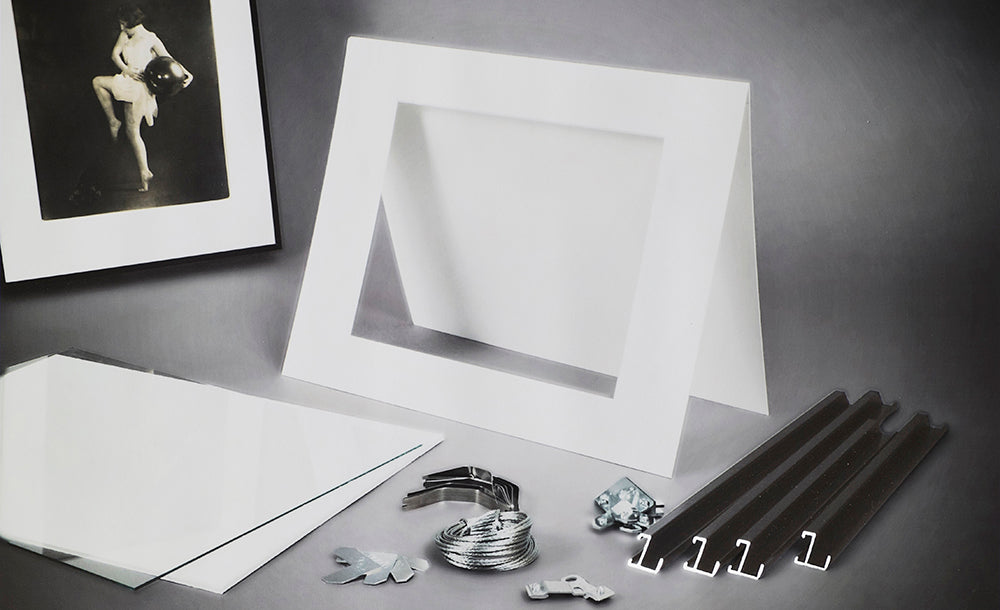 Rag Board Exhibition Frame Kit - Frost Silver
