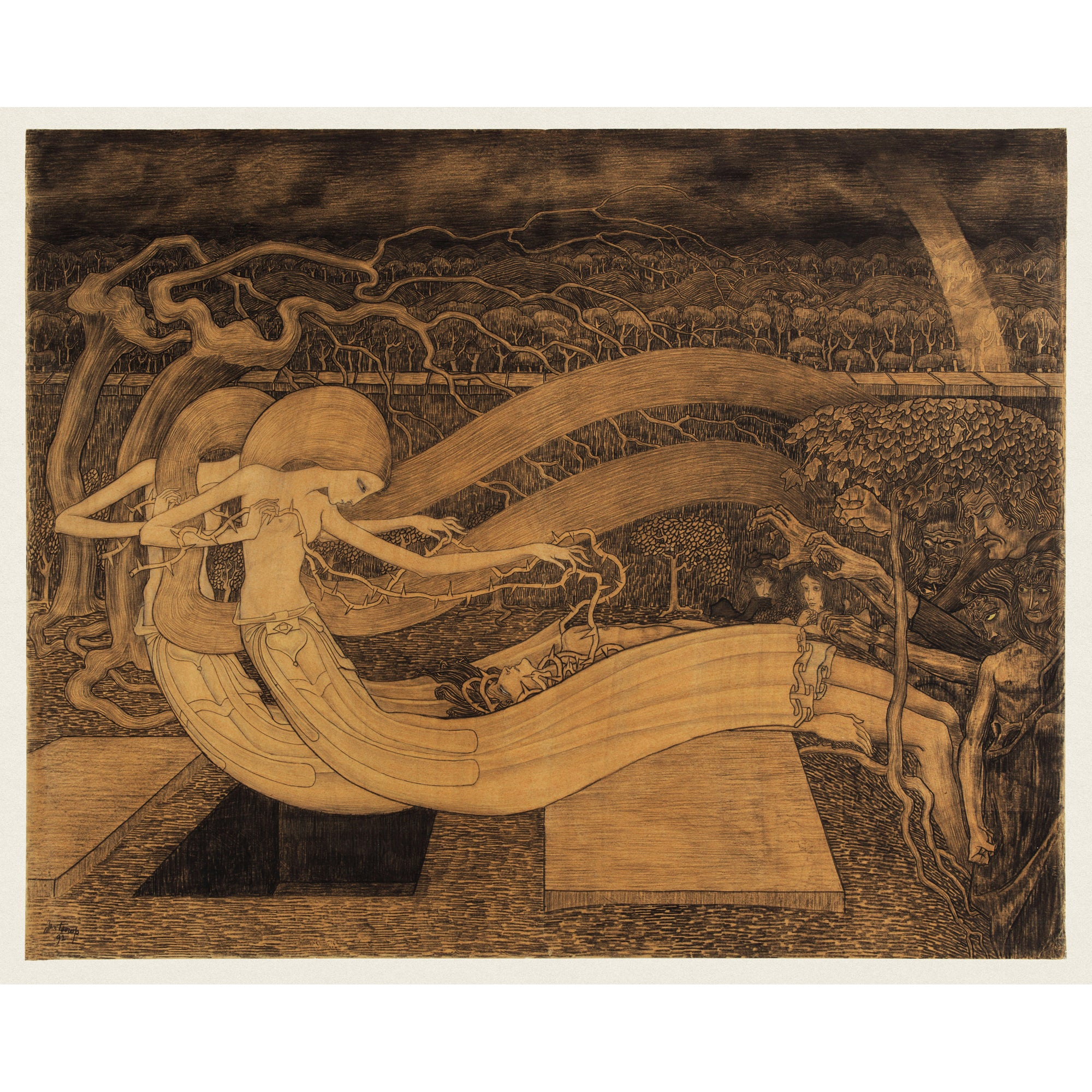 <i>Where is thy Victory? </i> by Jan Toorop